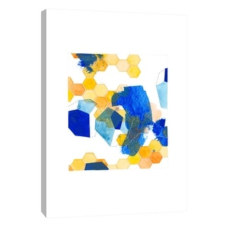 "PTM Images 9-105673  PTM Canvas Collection 10"" x 8"" - ""Color Chaos 3"" Giclee Abstract Art Print on Canvas"