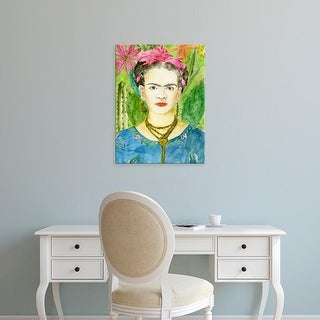 Easy Art Prints Melissa Wang's 'Frida Kahlo II' Premium Canvas Art