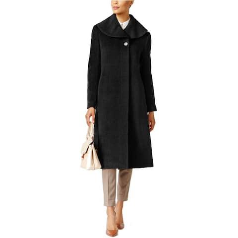 Jones New York Flyaway Shawl Collar Maxi Coat Black