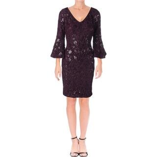 Lauren Ralph Lauren Womens Special Occasion Dress Party Bell Sleeve