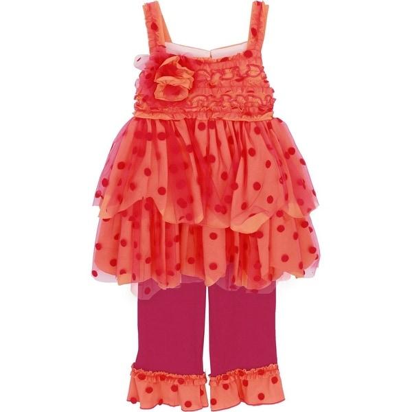 Isobella & Chloe Baby Girls Orange Sunrise Sunset Two Piece Pant Set 9M-24M
