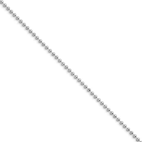 Chisel Stainless Steel 2.4mm 16in Ball Chain (2.4 mm) - 16 in