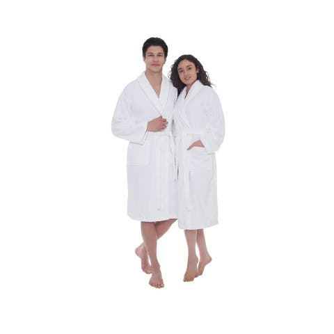 Ozan Premium Home Serene Collection 100% Turkish Cotton Unisex Terry Cloth Bathrobe