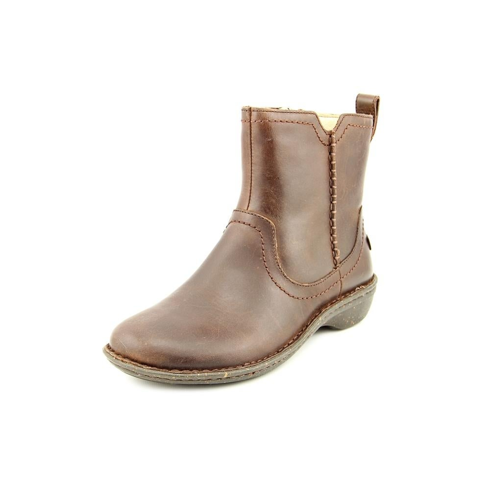 Ugg Australia Neevah Women Round Toe Leather Brown Ankle Boot