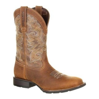 Durango Boot Men's DDB0138 Mustang Western Waterproof Boot Saddle Brown/Tobacco Full Grain Leather/Synthetic