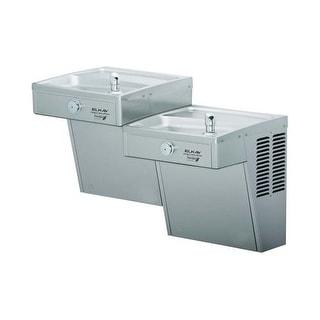 Elkay LVRCGRNTL8FC 8 GPH GreenSpec Wall Mount High Efficiency Bi-Level Water Cooler with Glass Filler, Vandal Resistant Bubbler