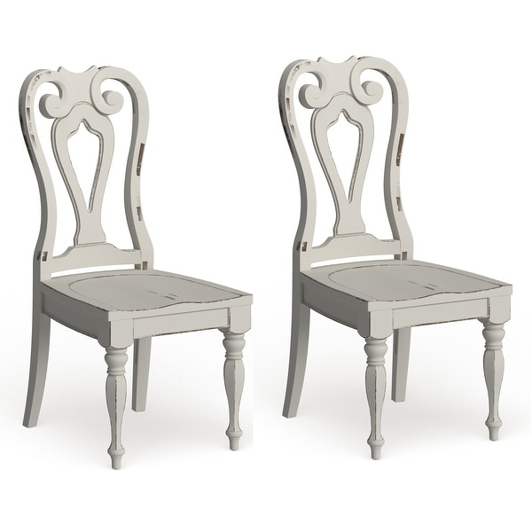 Magnolia Manor Antique White Splat Back Side Chair (Set of 2). Opens flyout.