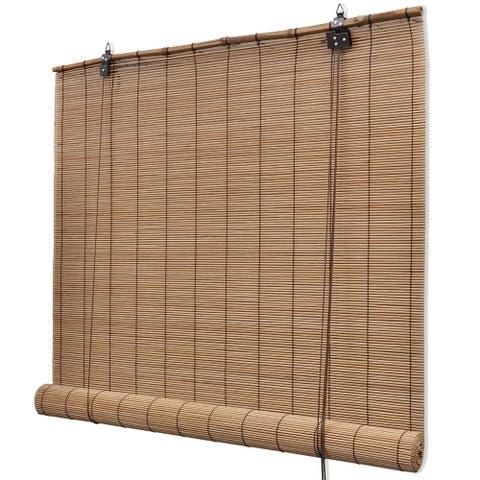 """vidaXL Brown Bamboo Roller Blinds 59.1"""" x 86.6"""""""