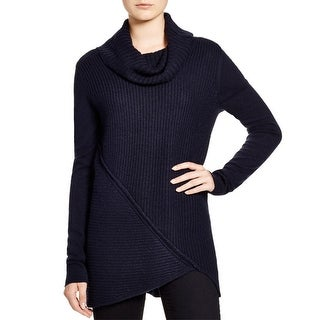 T Tahari Womens Tunic Sweater Asymmetric Long Sleeves