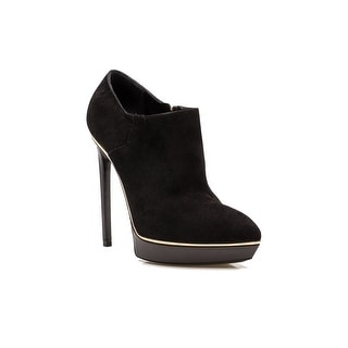 Saint Laurent Women's Suede High Heel Booties Shoes Black