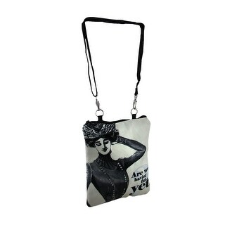 Are We Having Fun Yet Vintage Theme Padded Crossbody Journal Bag