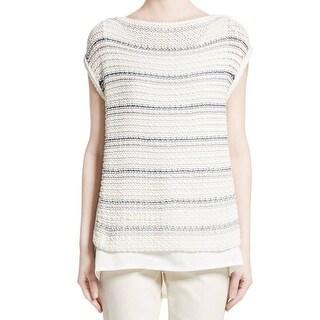 Lafayette Womens Knitted 2Fer Sweater 237