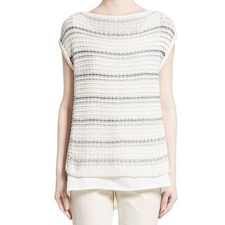 Lafayette Womens Knitted 2Fer Sweater 237