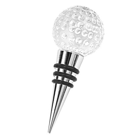 Hand Crafted Crystal Golf Ball Bottle Stopper