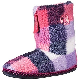 Bedroom Athletics Womens Macgraw Fleece Colorblock Bootie Slippers