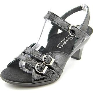 Helle Comfort Baby Women Open-Toe Leather Black Slingback Sandal
