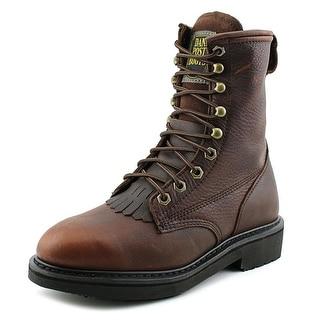 Dan Post Rigger Men Round Toe Leather Brown Work Boot