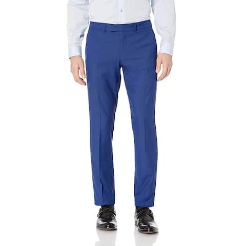 Billy London Mens Pants Blue Size 30x29 Straight Leg Flat Front Stretch
