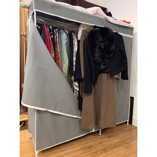 Honey-Can-Do WRD-03746 60-inch Square Frame Wardrobe