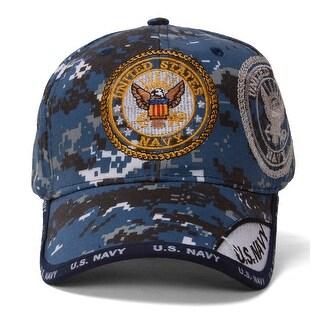US Navy Emblem Shadow Blue Digital Camo Adjustable Cap - blue/digital camo