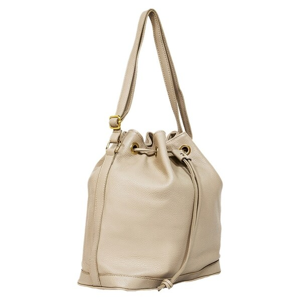 HS5150  BG CALISTA Beige Leather Shopper/Shoulder Bag - 12-14-5