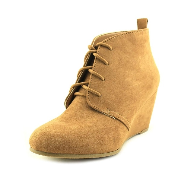 New Directions Camden Women Round Toe Synthetic Tan Ankle Boot