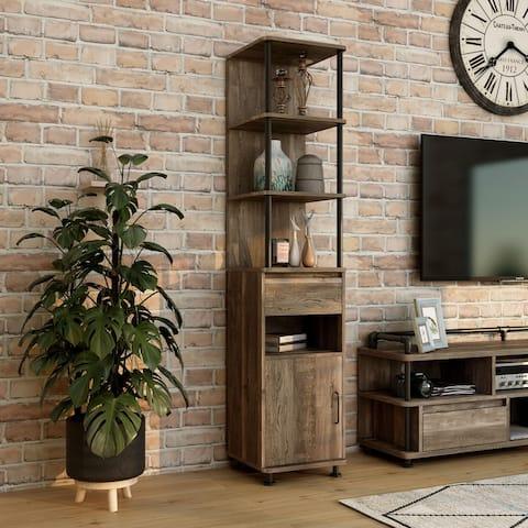 Furniture of America Albertus Urban 4-shelf Accent Bookcase