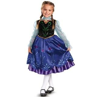 Disguise Disney Frozen Anna Deluxe Child Costume - Purple/Blue