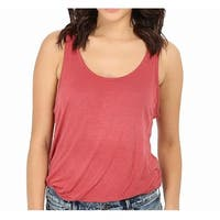 Free People Rust Red Womens Size Small S Scoop Neck Tank Cami Top