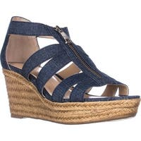 Lauren Ralph Lauren Kelcie Platform Wedge Sandals, Blue