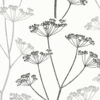Brewster 2532-20427 Albury Black Brasilia Flower Wallpaper - albury black brasilia - N/A