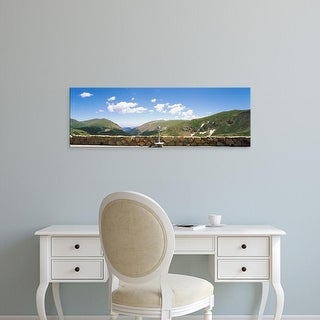 Easy Art Prints Panoramic Image 'Coin binoculars, Observation point, Rocky Mountain National Park, Colorado' Canvas Art