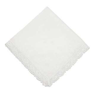 CTM® Women's Cotton Seaside Lace Handkerchief - One size