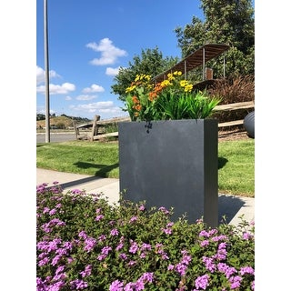 Link to DurX-litecrete Lightweight Concrete Modern High Charcoal Planter Similar Items in Planters, Hangers & Stands