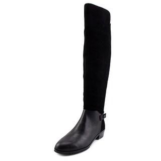 Kelsi Dagger Vlad Women  Round Toe Suede Black Knee High Boot