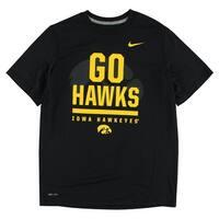 Nike Boys Iowa Hawkeyes Legend Word T Shirt Black - black/yellow