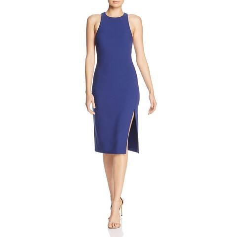 Likely Womens Decklin Cocktail Dress Side Slit Sheath - Navy