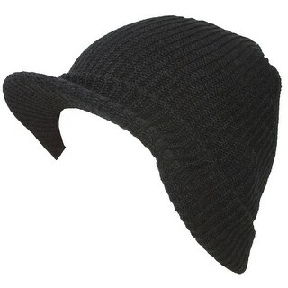 9ebd6faac96 Shop TopHeadwear GI Ribbed Jeep Waffle Cuff Beanie Visor - Free Shipping On  Orders Over  45 - Overstock - 16949367