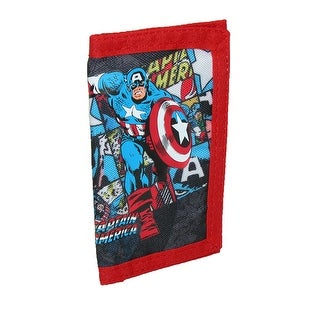 Marvel Kids' Nylon Captain America Tri-Fold Wallet - captain america - One Size
