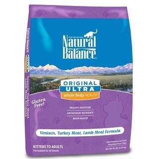 Natural Balance Ultra Whole Body Health Venison/Turkey/Lamb Dry Cat Food 10lbs