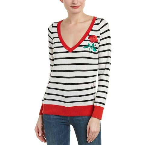 Chaser Embroidered Cashmere-Blend Sweater