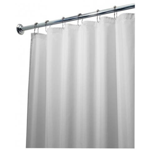 "Interdesign 15062 Fabric Shower Curtain Liner, White, 72"" x 96"""