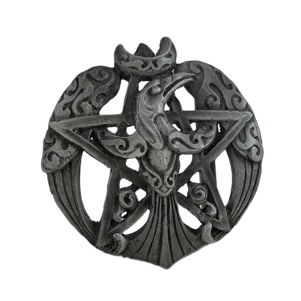 Pewter Raven Moon Pentacle Belt Buckle