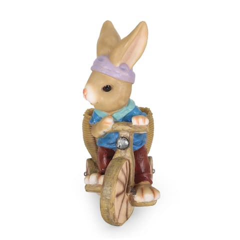 Raglan Outdoor Cast Stone Outdoor Decorative Rabbit Planter by Christopher Knight Home