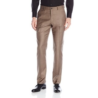 Perry Ellis NEW Brown Men Size 30x30 Heathered Slim-Fit Flat Front Pants