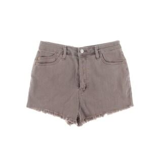 Michelle by Comune Womens Austin Denim Shorts Cutoff Button Fly (Option: tulpd - 26)