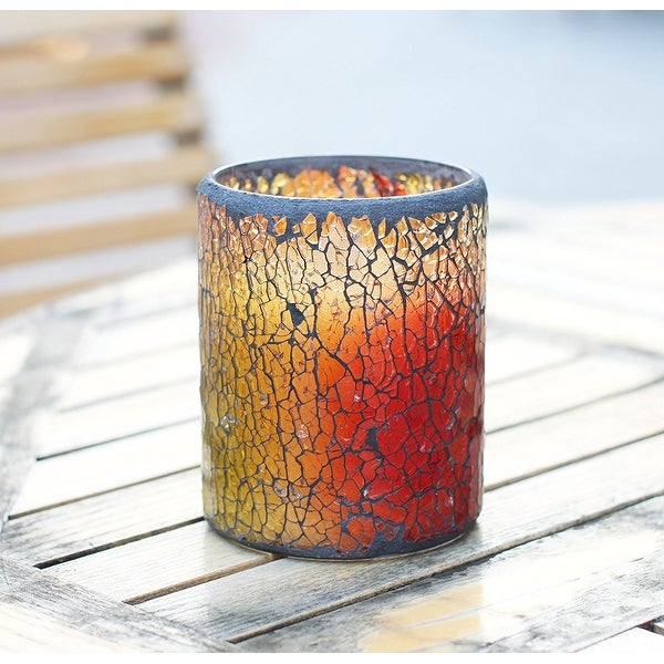 Simplux Red Mosaic Flameless Candle