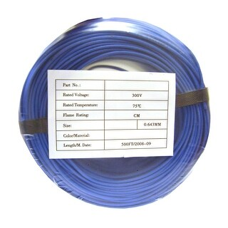 Offex Security and Alarm Wire, Blue, 22/2 (22AWG 2 Conductor), Stranded, CMR / In-wall Rated, Coil Pack, 500 Feet