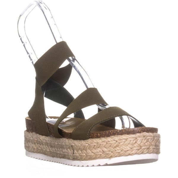 fd87e79a212 Shop Steve Madden Kimmie Espadrille Wedge Sandals, Olive - Free ...