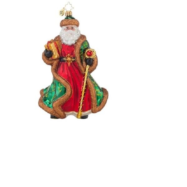 Christopher Radko Glass Leafy-Laurel Nicholas Christmas Ornament #1017851